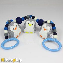 Wagenspanner Pinguins blauw