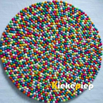 Bolletjeskleed multicolor