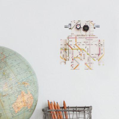 Studio Ditte Robot muursticker metrokaart