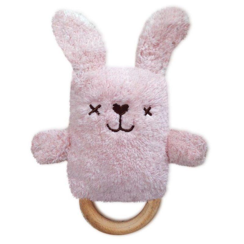 Rammelaar Bijtring Dingaring Bonnie Bunny roze