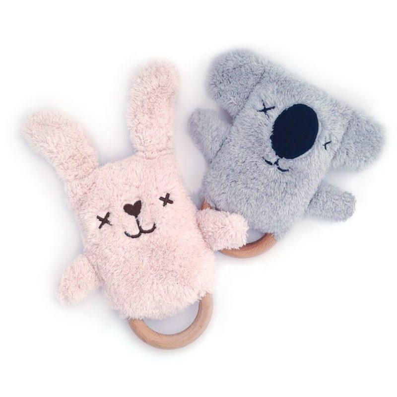 Rammelaar Bijtring Dingaring Keith Koala en Bonnie Bunny