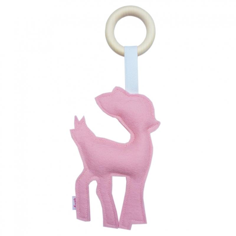 bijtring-hert-roze