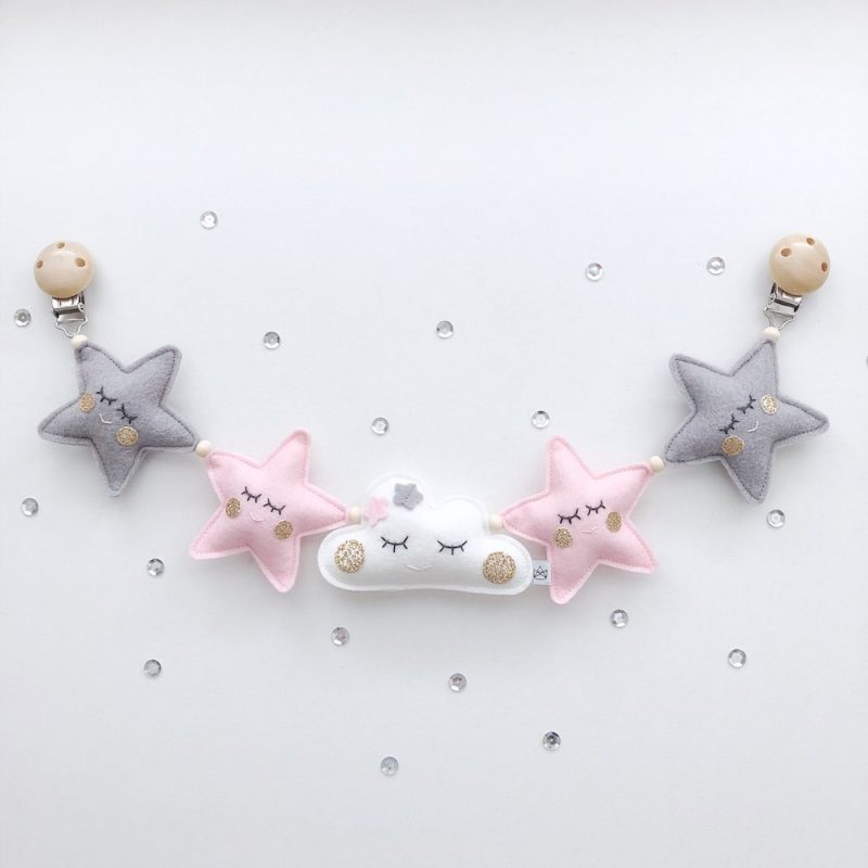 Wagenspanner vilt sterren wolkje roze