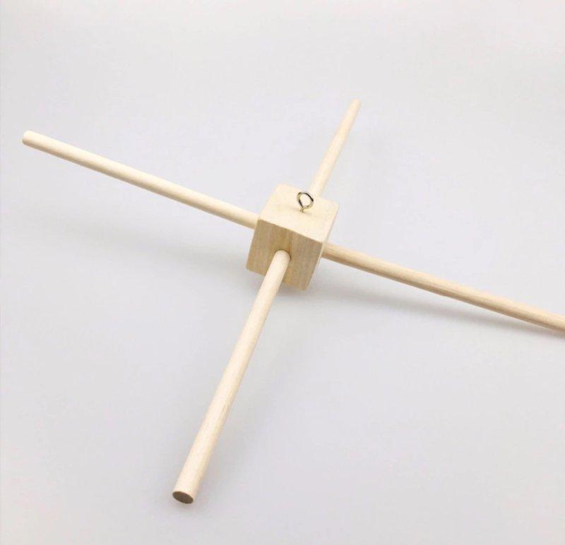 Goede Houten kruis voor muziekmobiel: te combineren met houten UA-68