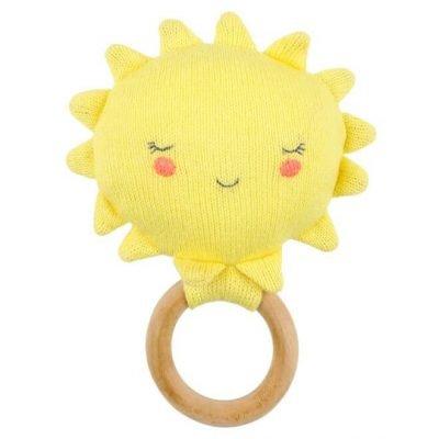 Gehaakte rammelaar : bijtring zon