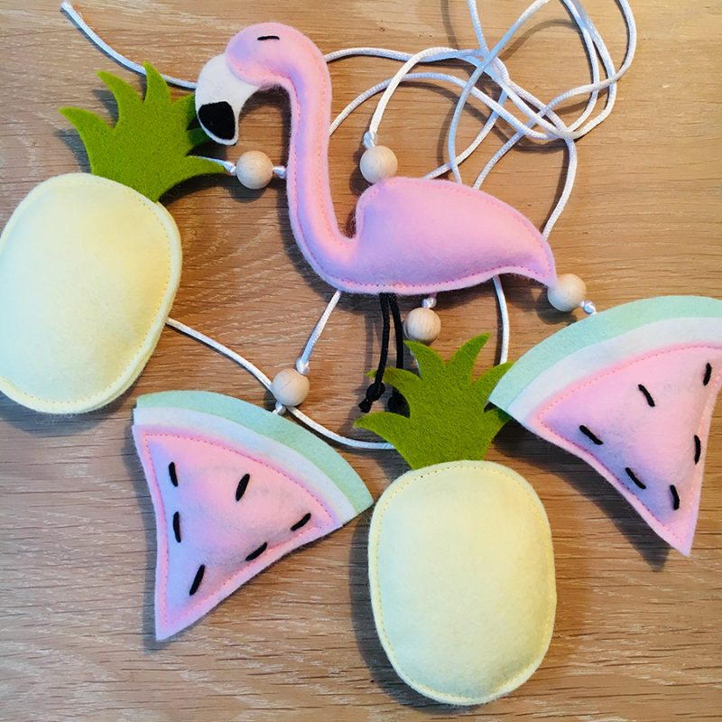 Muziekmobiel tropical flamingo vilt 1