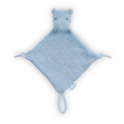 Jollein gehaakt knuffeldoekje nijlpaard blauw