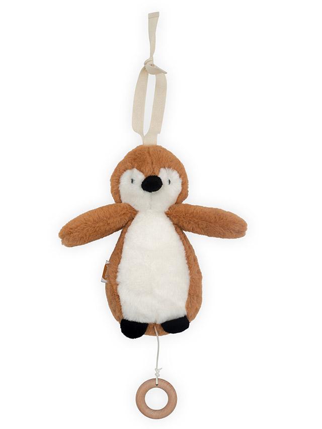 Jollein muziekhanger : muziekdoosje pinguïn caramel