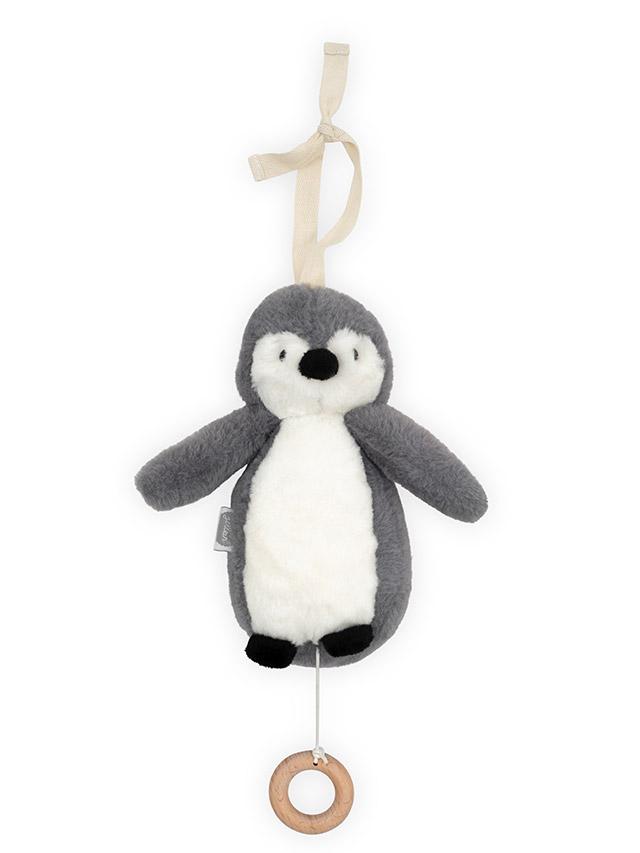 Jollein muziekhanger : muziekdoosje pinguïn grijs